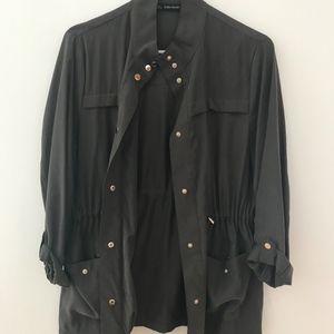 Zara Olive Green Military Style Jacket  L